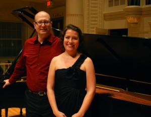 Kirsten Swanson (viola), Omri Shimron (piano).